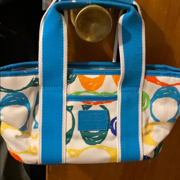 Vintage coach colorful pattern